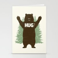 bear Stationery Cards featuring Bear Hug? by Fanboy30