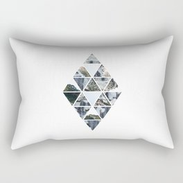 Triangles and Rocks Rectangular Pillow
