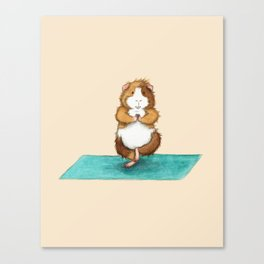Yoguineas - Tree Pose Canvas Print