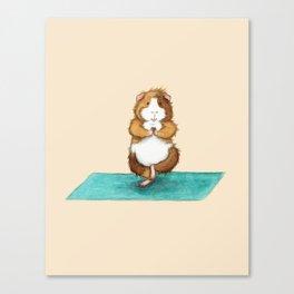 Yoguineas - Tree Pose Canvas Print