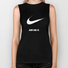 Nike - Just Did It (Parody) Biker Tank