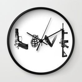All's Fair in Love and War Wall Clock
