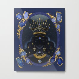 Libra Zodiac Queen   September Birthday   Sapphire Birthstone Metal Print