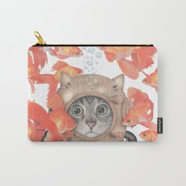 Scuba Cat Among the Fishes Carry-All Pouch
