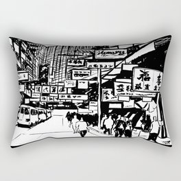 Hong Kong Rectangular Pillow