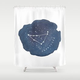 capricorn constellation zodiac Shower Curtain