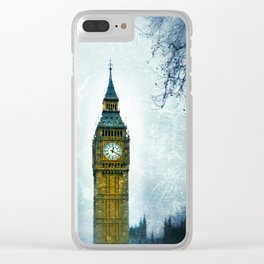 Big Ben in Winter Clear iPhone Case