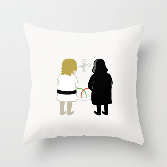 Saber Fight Throw Pillow