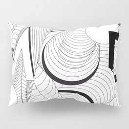 History of Art in Black and White. Postmodern Pillow Sham