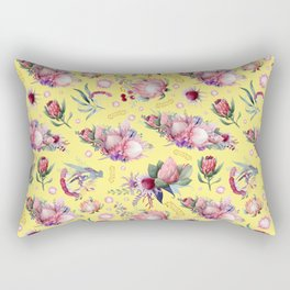 Australian Native Floral Pattern - Protea Flowers Rectangular Pillow