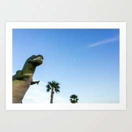 Palm Springs Welcome Wagon Art Print
