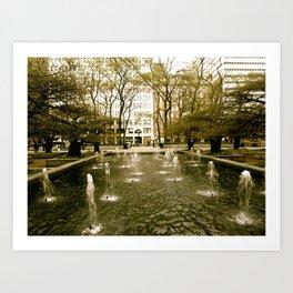 Chicago Fountain  Art Print