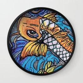 Glitter Fish Wall Clock
