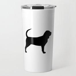 Bloodhound Silhouette Travel Mug