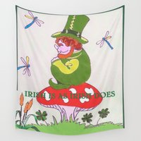 irish Wall Tapestries featuring Irish Is As Irish Does by Connie Campbell