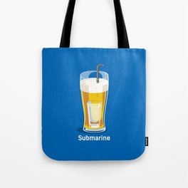 funny t-shirt cocktail submarine vodka in cup of beer Tote Bag