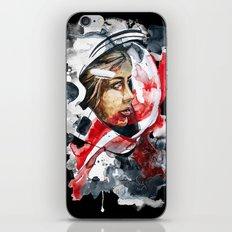 cosmonaut portrait by carographic iPhone Skin