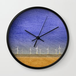 Eco Farm - Offshore Electricity Wall Clock