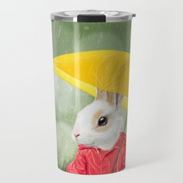 It's raining, little bunny! Travel Mug