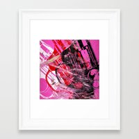 guns Framed Art Prints featuring Guns Guns Guns by Botch Skateboarding