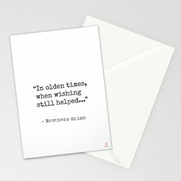 In olden times, when wishing still helped... Stationery Cards