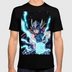 The Mighty THOR! SMALL Mens Fitted Tee Black