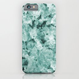 Mint Green Crystal Marble iPhone Case