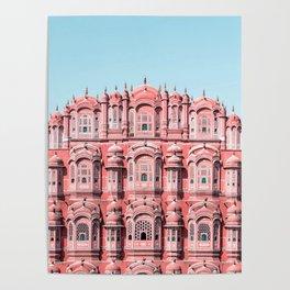 Hawa Mahal, Pink Palace   Jaipur, Rajasthan, India Poster
