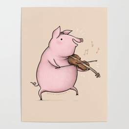 Piggy on the Fiddle Poster