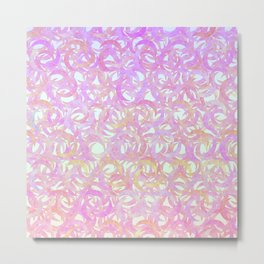 Pastel Crescents Metal Print
