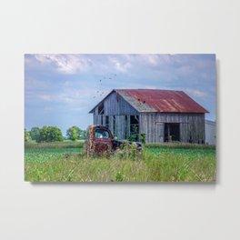 Vintage Farm Find Metal Print