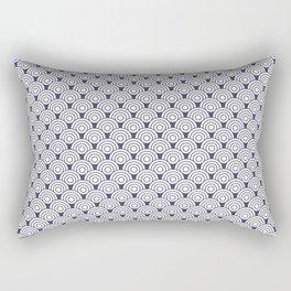 Seigaiha waves | Circle pattern Rectangular Pillow