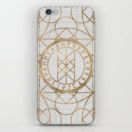 Web of Wyrd The Matrix of Fate - Pastel Gold iPhone Skin