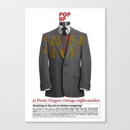 Swish Poster event held in Hackney Canvas Print