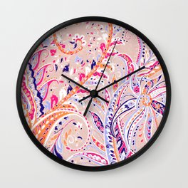 love paisley 3 Wall Clock