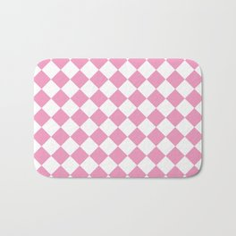 Light Pink Diamond Pattern Bath Mat