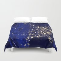 america Duvet Covers featuring America by 2sweet4words Designs