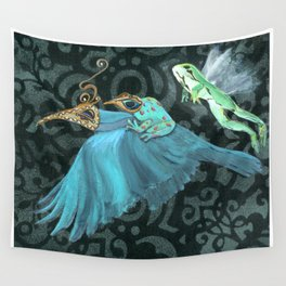 Flying Frogs Wall Tapestry