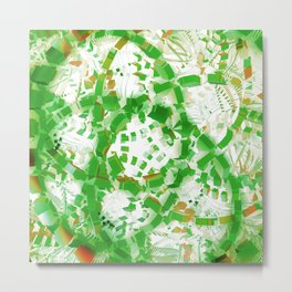 Green industrial abstract Metal Print