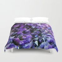 geode Duvet Covers featuring Amethyst Geode by The Wellington Boot