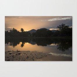 Sunset at Sukhothai Historical Park Canvas Print