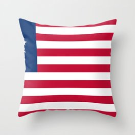 United States (Betsy Ross) Flag Throw Pillow