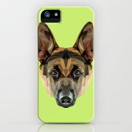 German Shepherd // Green iPhone Case