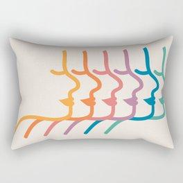 Boca Silhouettes Rectangular Pillow