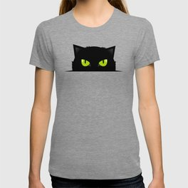 Black cat follow you #society6 #decor #buyart #artprint T-shirt