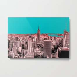 New York Delineated Metal Print