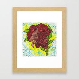 A Hideous Bouquet Framed Art Print