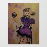 steam punk Canvas Prints featuring Steam Punk Girl by Colour pirate - Jaylene Malone