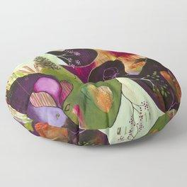 """Deep Peace"" Original Painting by Flora Bowley Floor Pillow"