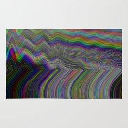 Digital pixel noise and glitch Rug